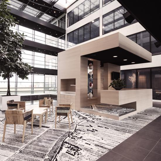 working place or office space for rent in luxurious office building