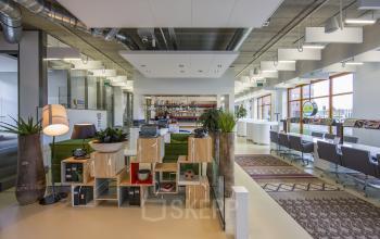 loungeruimte kantoorpand amersfoort centrum piet mondriaanplein lunchruimte