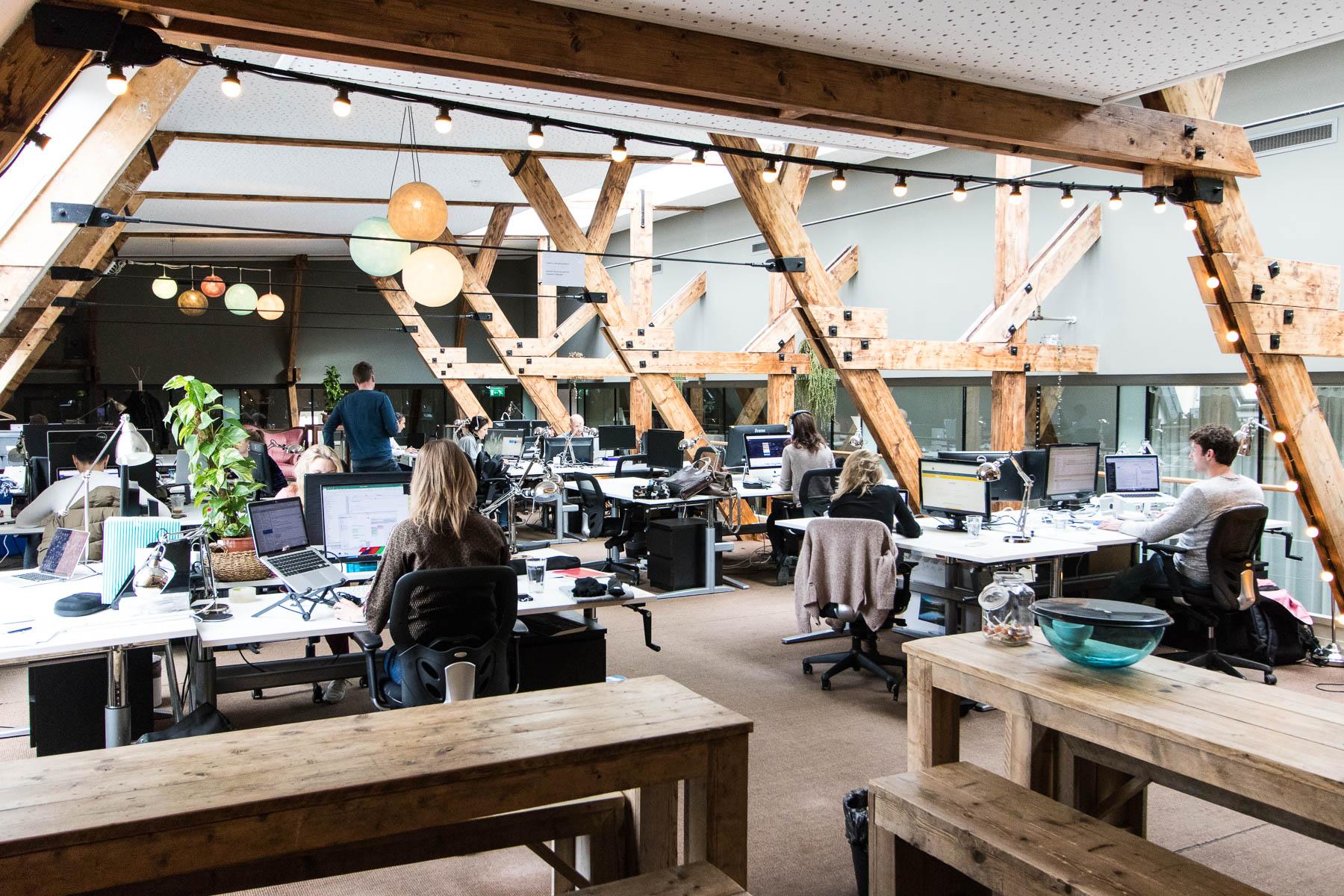 Open en transparante kantoorruimte