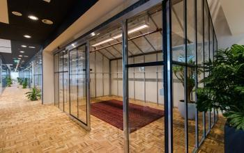 Modern office spaces in recently renovated office building