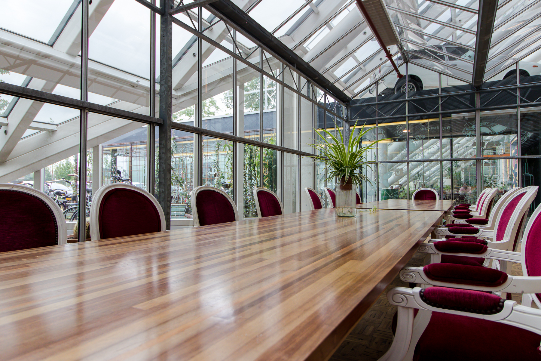 Multiple conference rooms present