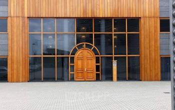 front side office building amsterdam wood