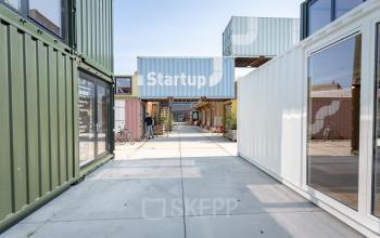 industrieel modern creatief kantoor