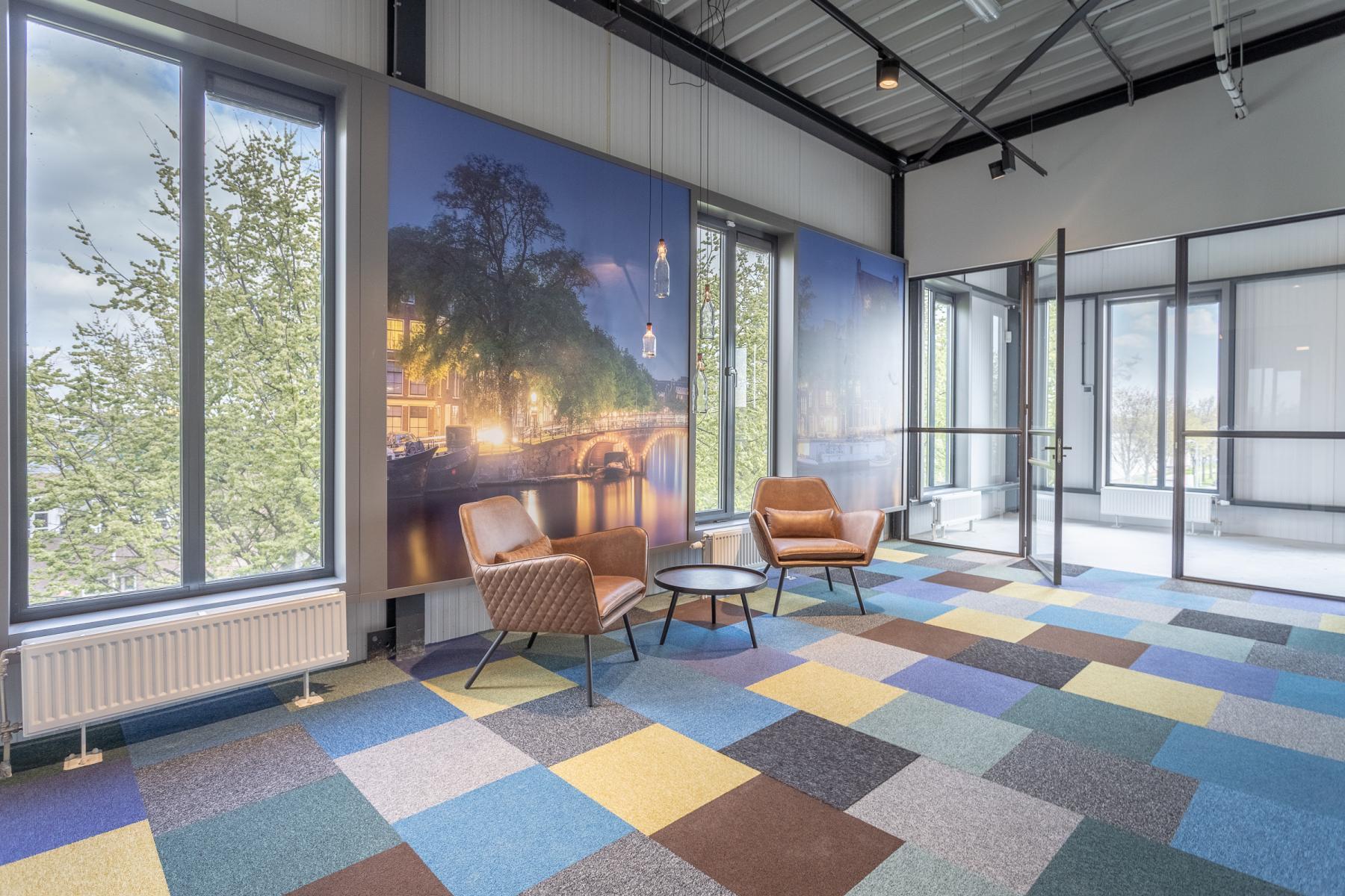 Ontvangsthal kantoorruimte kantoorpand kantoorkamers Amsterdam Slego