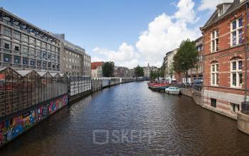 buitenaanzicht kantoorpand Amsterdam Singel omgeving ramen uitzicht