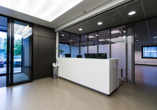 Office building with manned reception