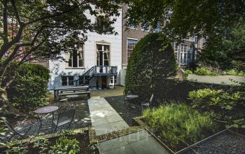 overzicht tuin achterzijde herengracht amsterdam