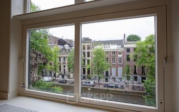 uitzicht herengracht amsterdam te huur gracht water