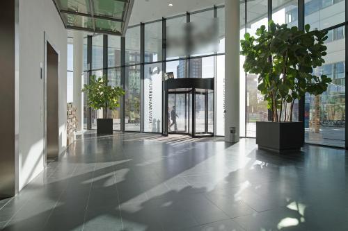 draaideur entree kantoorpand voorgevel Zuidas
