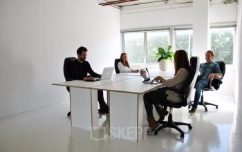 bureau bureaustoelen ramen plant werken modern industrieel