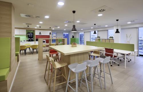 Gemeenschappelijk ruimte in het gebouw