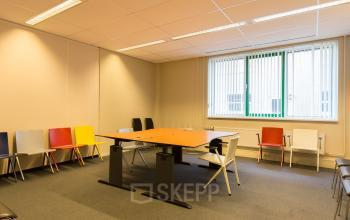 office space for rent coloured chairs