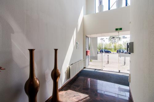 Light entrance with elevator