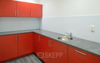 pantry red storage room