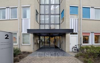 front side building entrance glass