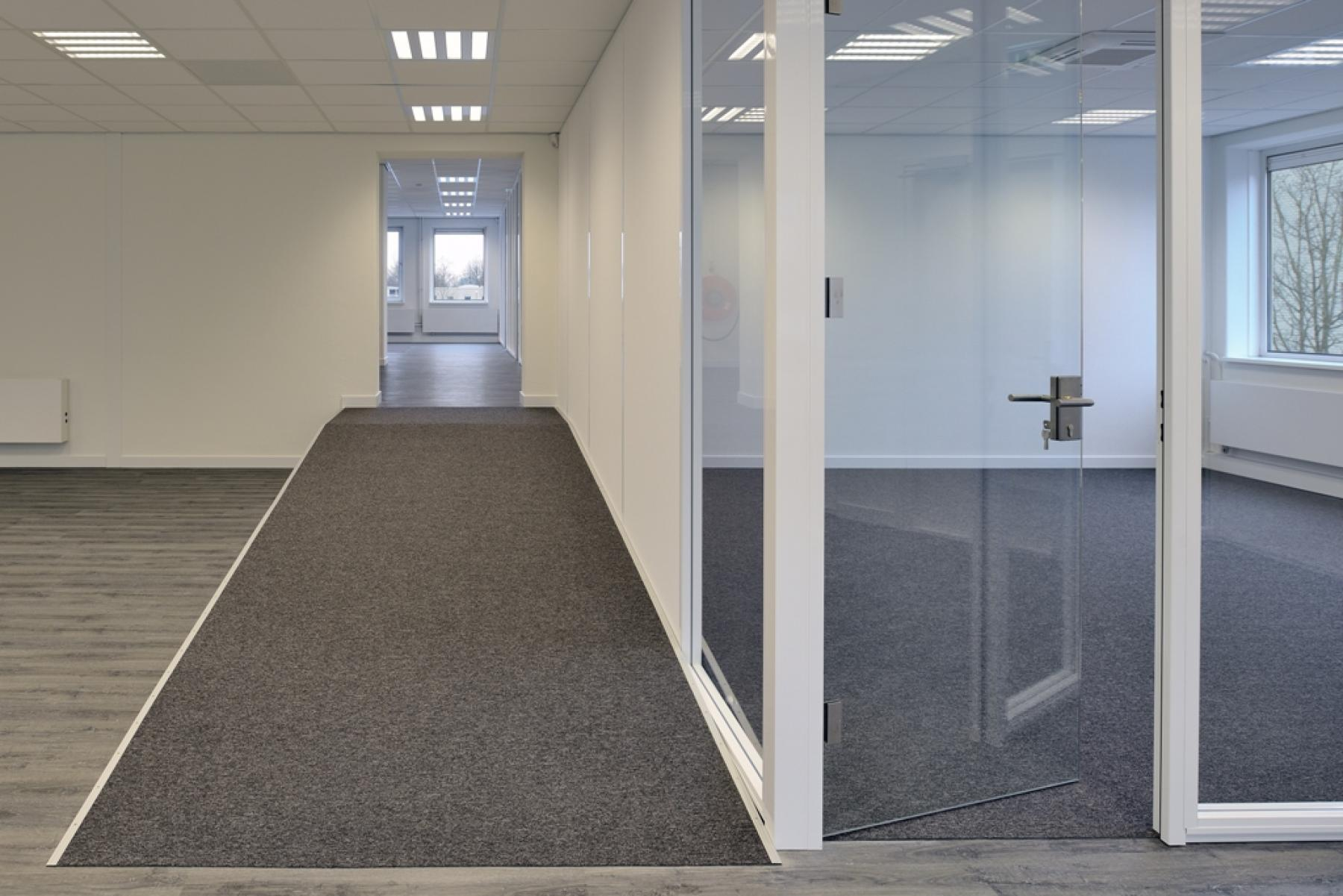 glass wall big office room space disabled people