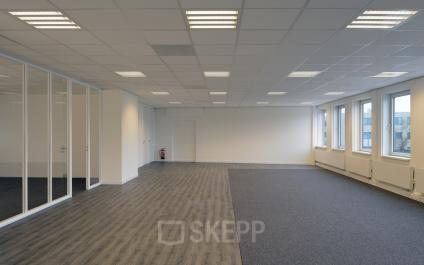 big room space office windows carpet