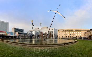 groene omgeving plein