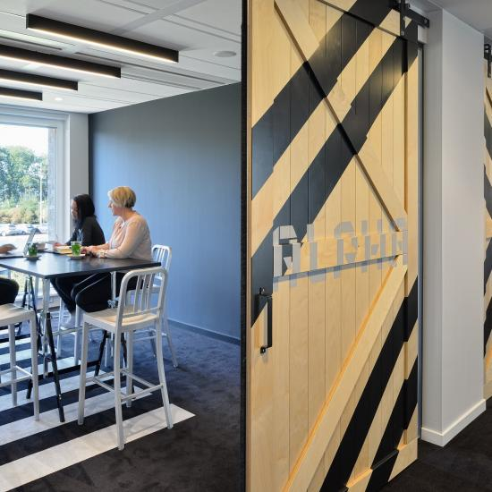 modern office room spaces meeting walls