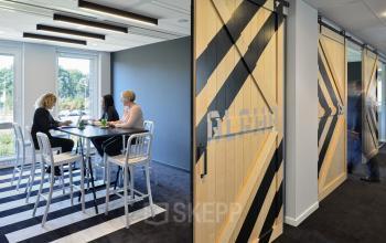 modern office room spaces meeting walls