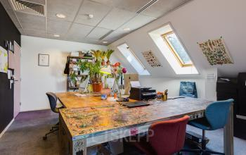 creative office room paintings plants