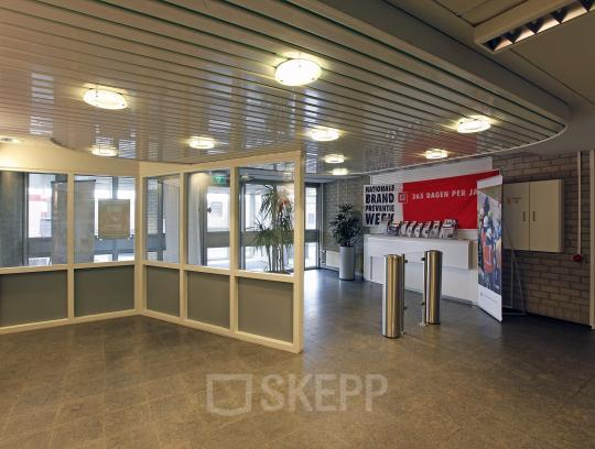 entrance office building reception desk