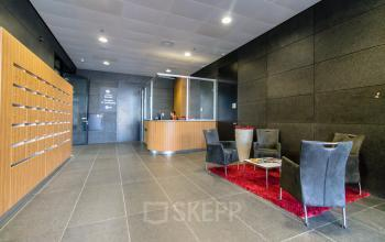 Modern entrance with manned reception