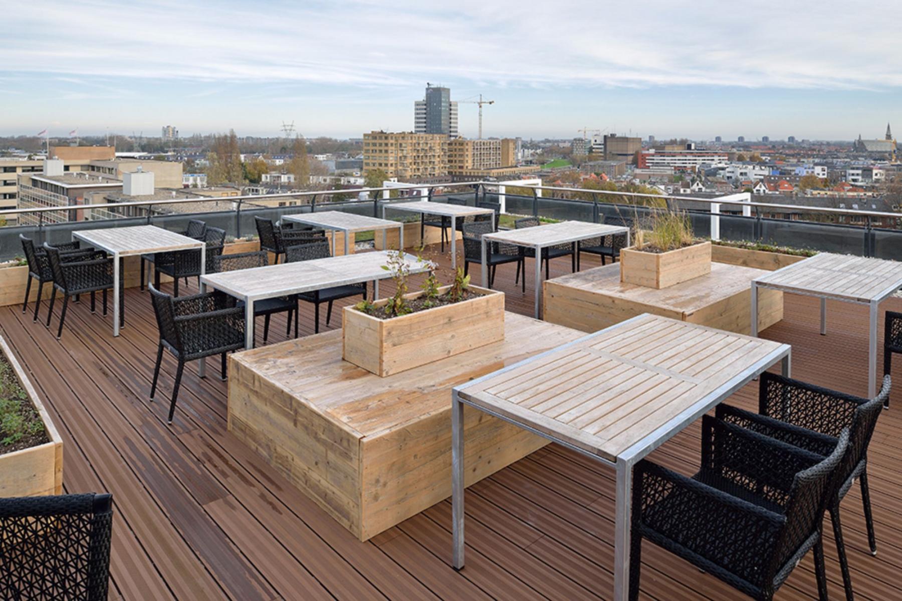 Rooftop office building Leiden