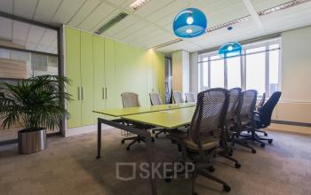 meeting room office building green wall