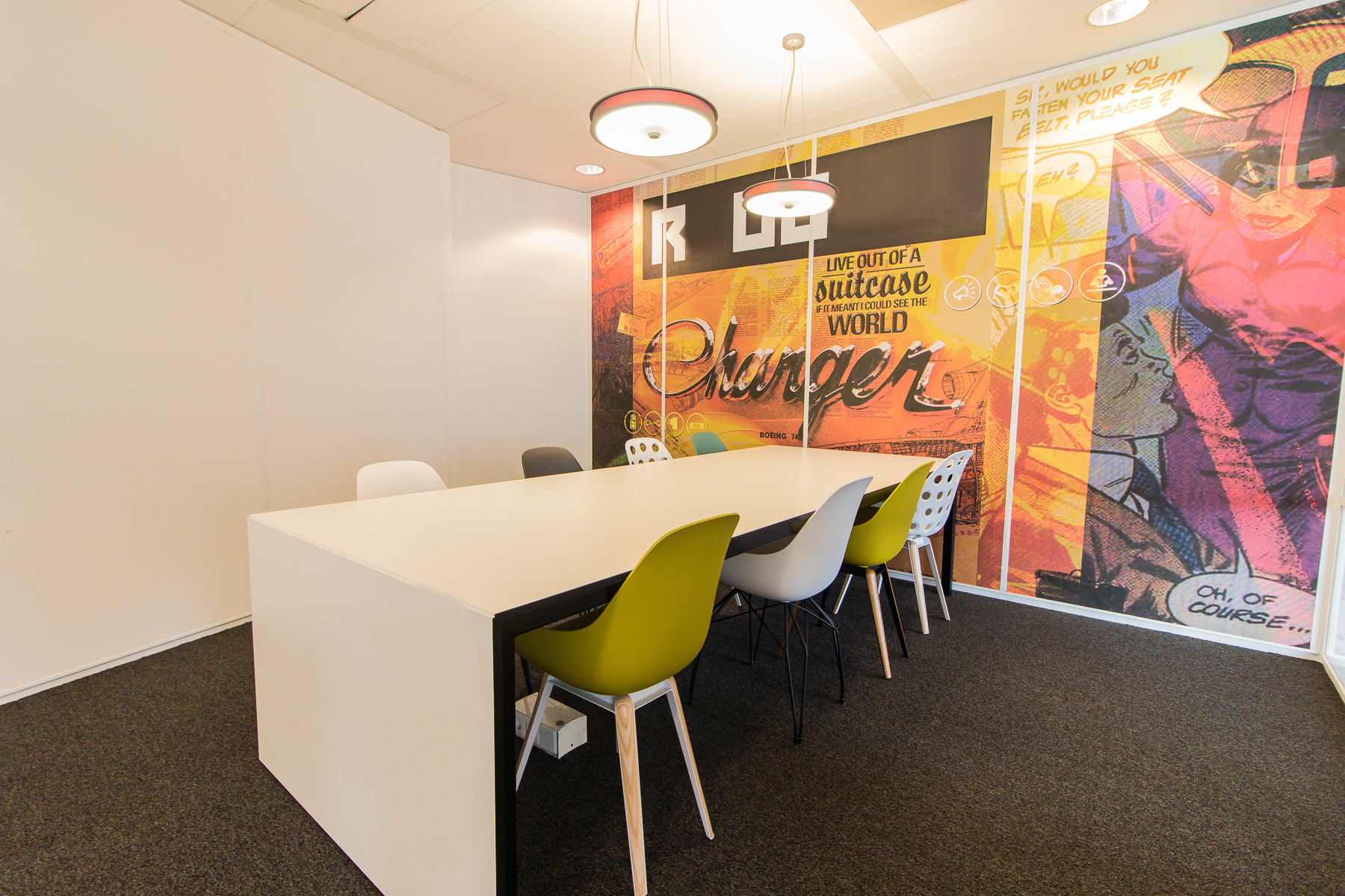 Besides office spaces also conference rooms available