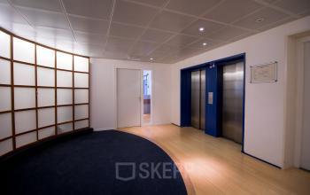 Hallway with elevators office