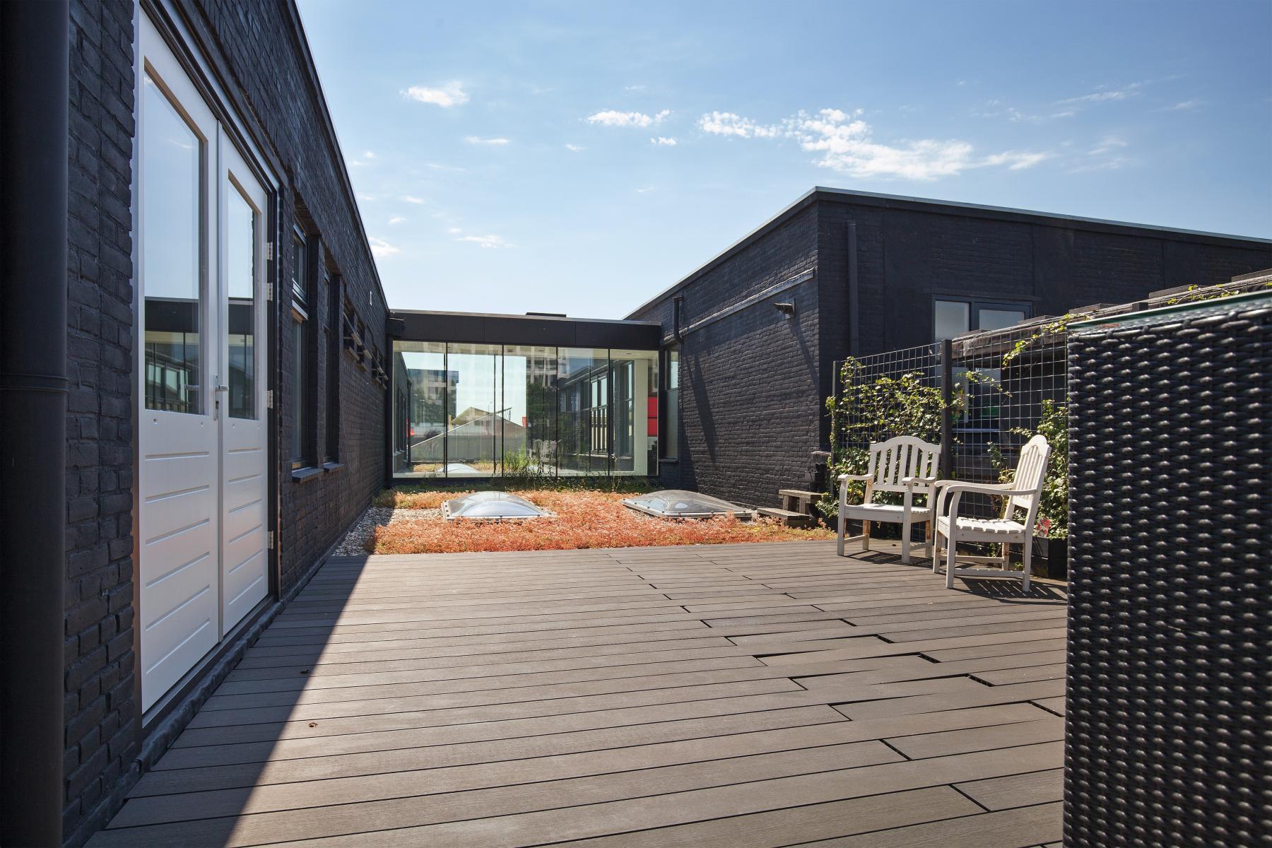 kantoorruimte huren aan van helmontstraat in rotterdam met dakterras