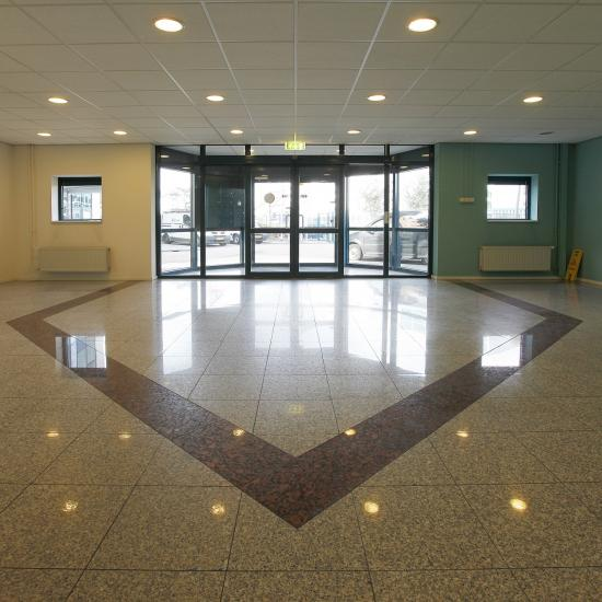 modern floor entrance office building