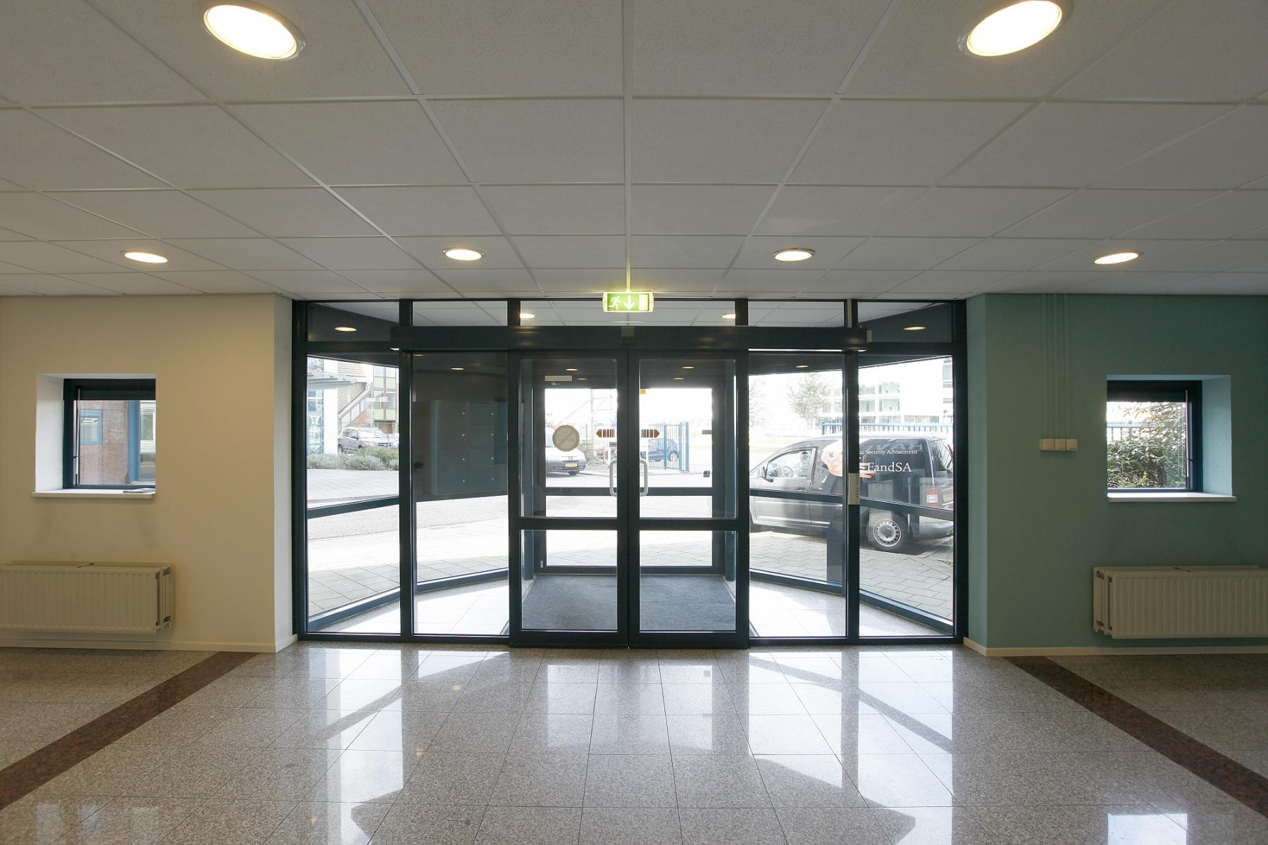 entrance office building windows and doors