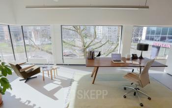 kantoorruimte te huur kantoorunit uitzicht hofplein rotterdam meubilair