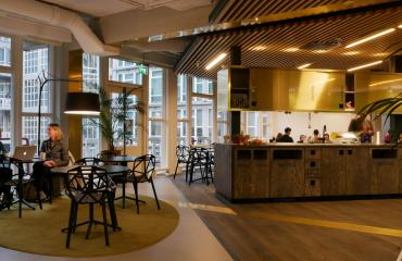 lunchroom nice room cosy wood industrial design
