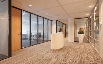 receptie gang gemeenschappelijk kantoorgebouw Amsterdam