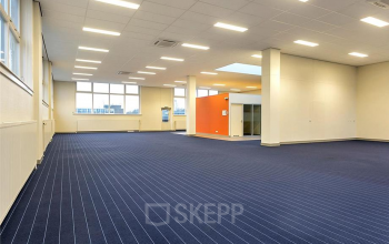 big office space tilburg blue carpets