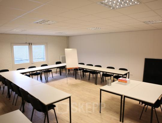 meeting room chairs and tables whiteboard black and white