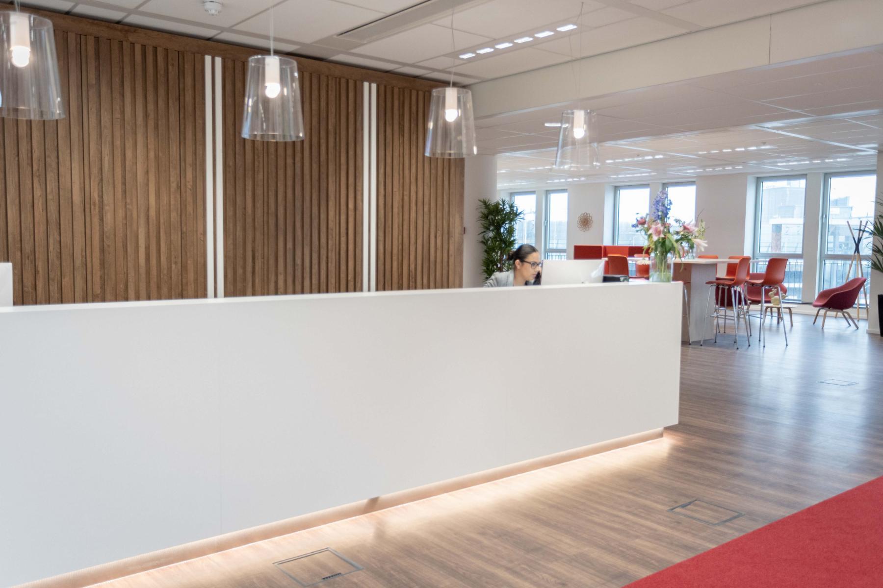 receptie kantoorruimte Utrecht centraal gelegen ruim vergaderruimtes