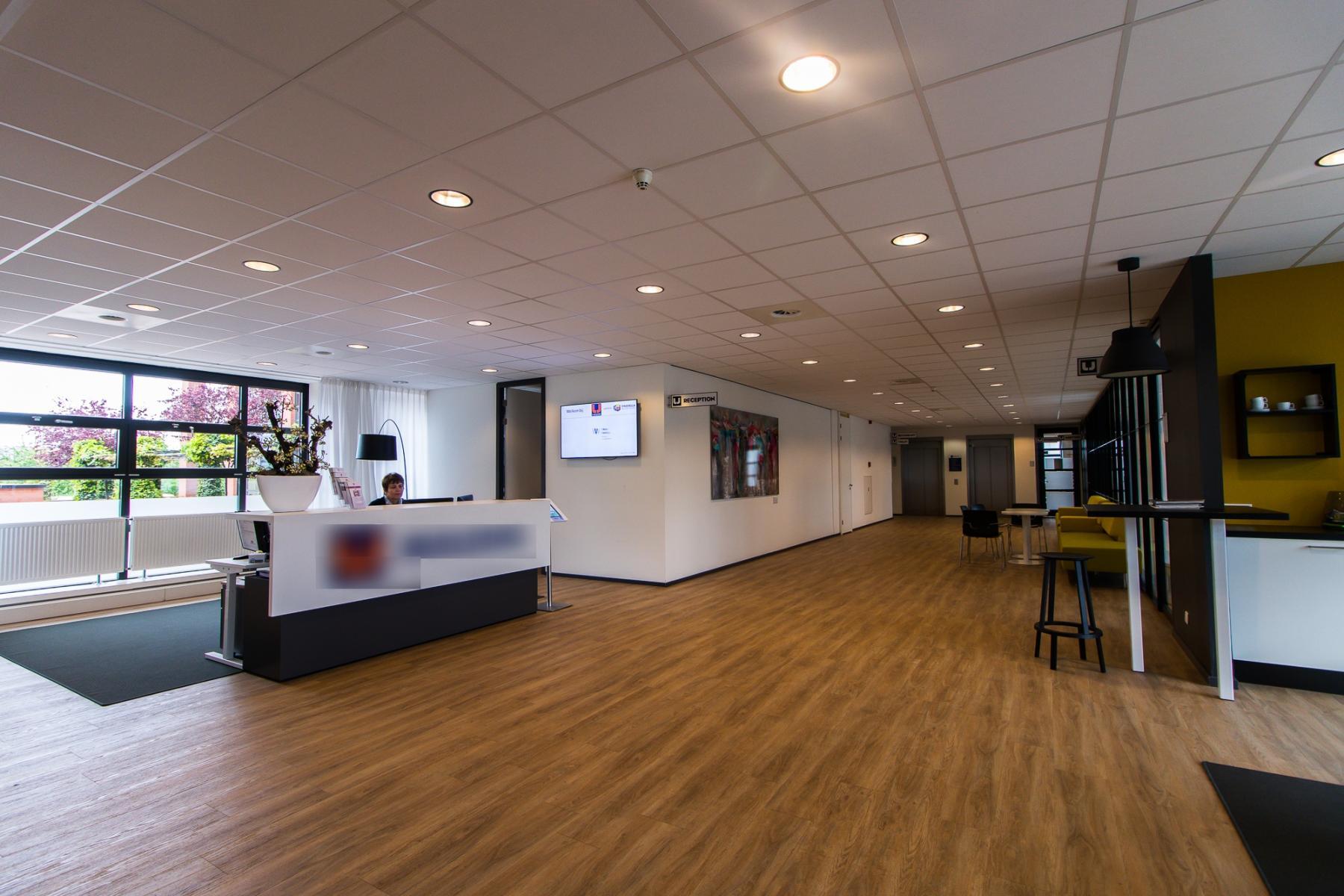 Reception desk at office building in Utrecht