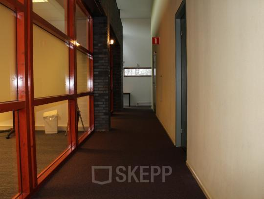 office room space windows wall entrance