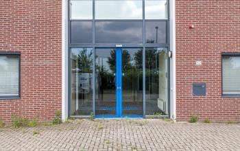 doors blue entrance office building zutphen