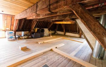 Storage room in the attic
