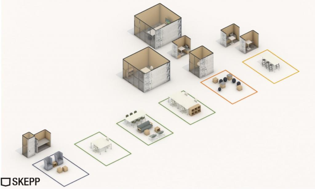 officeplanner urban cocons prefab design inrichtingsconcept